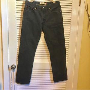 Levi's Black Straight Leg Vintage 505's 34 x 32